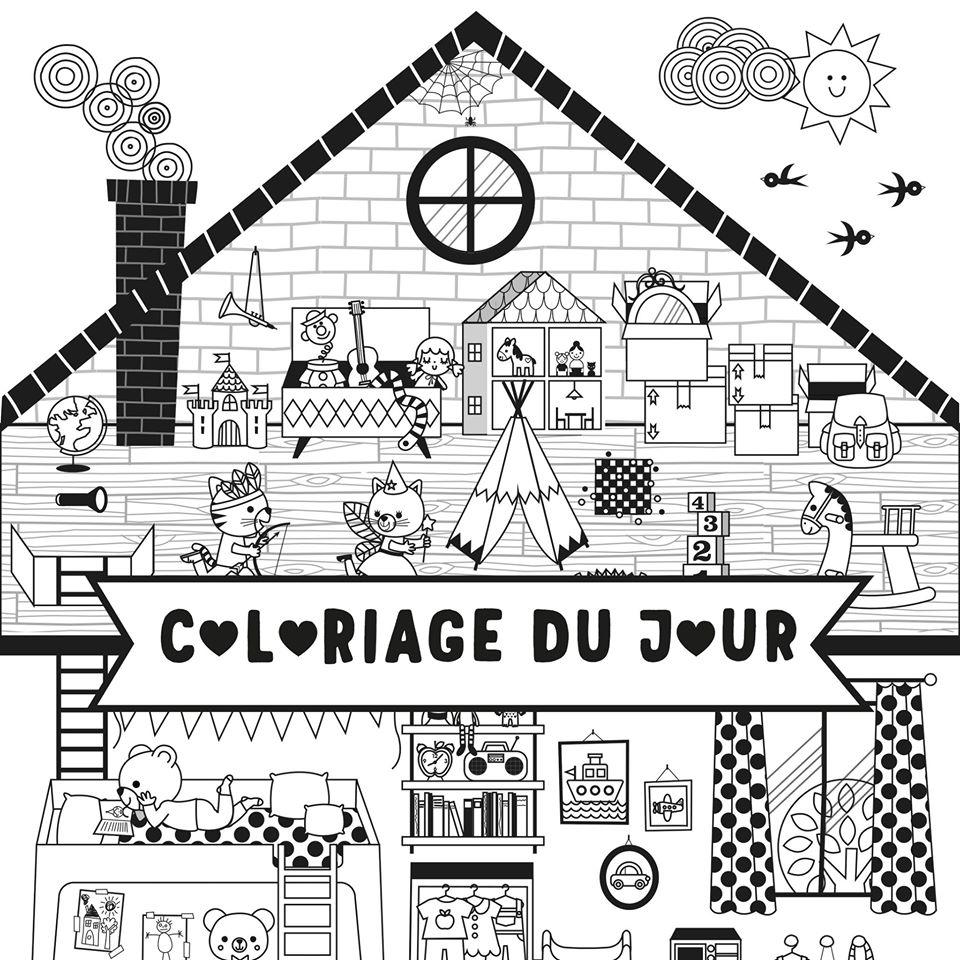 Coloriage Maison by Gwé