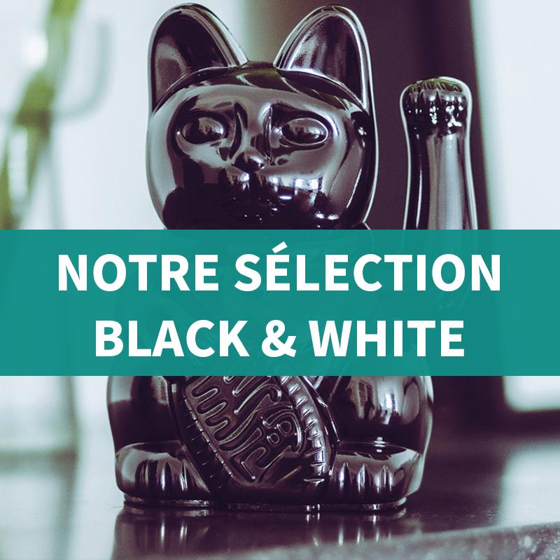 selection de cadeaux et deco black and whitecouleur